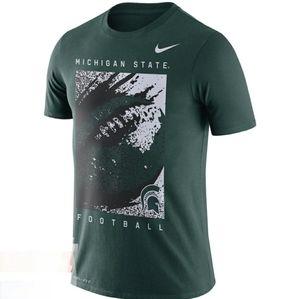 NWT Nike MSU Football Dri-fit sz.S